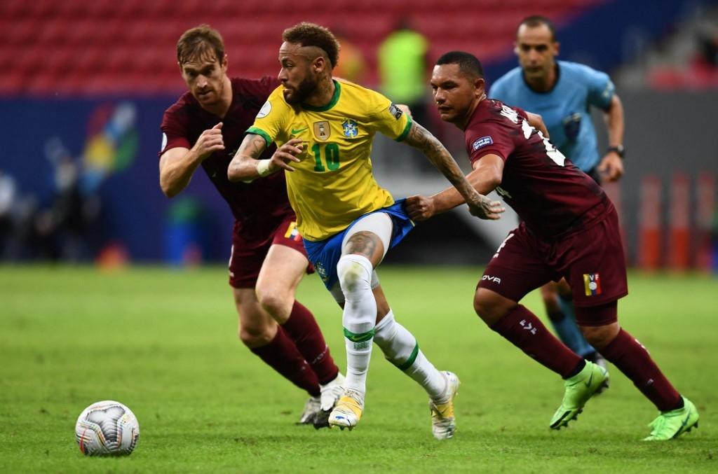 neymar helps brazil cruise to copa win over covid depleted venezuela