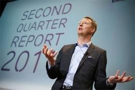 ericsson reports profit leap shares slump