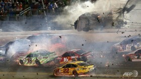 Dillon in crash as Earnhardt wins at Daytona