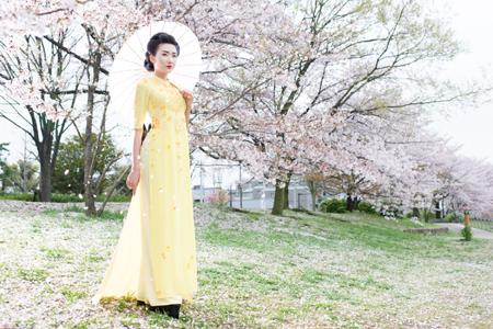cherry blossom ao dai inspirations