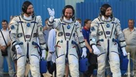 Three-man crew reaches International Space Station