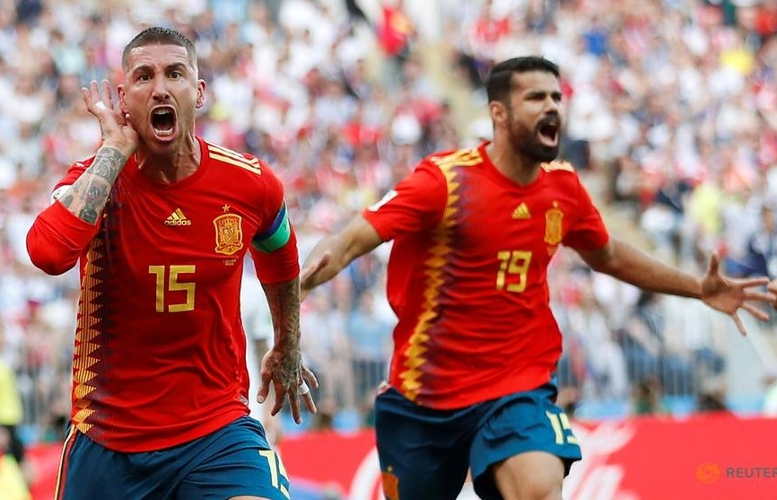 world cup russia beat spain 4 3 on penalties to reach quarter finals