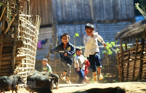 innocent smiles of mountainous children