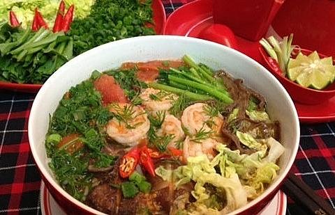 bun tom shrimp vermicelli noodle