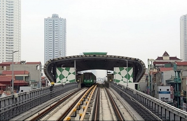 cat linh ha dong railway connected to national grid for trial operation