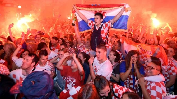 world cup croatia on fire after england victory