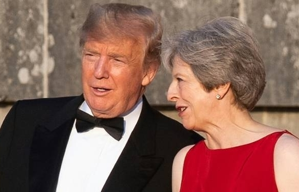 Trump blasts May's Brexit strategy on UK visit