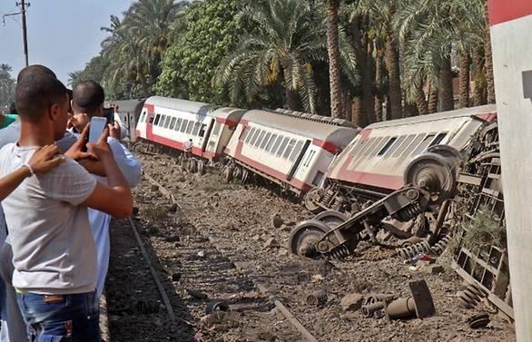 Egypt train derailment injures 55 people