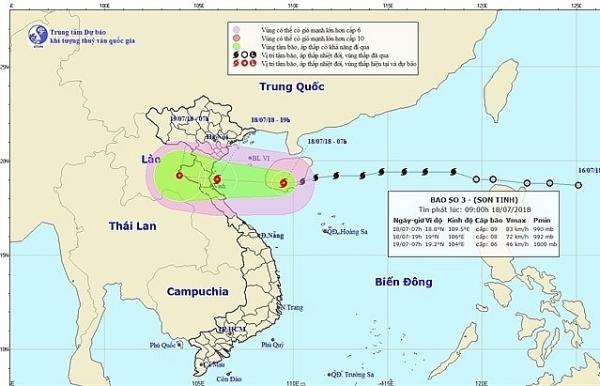 typhoon son tinh to make landfall wednesday night