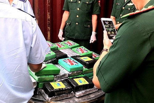 about 35kg of heroin detected in imported scrap container at southern port