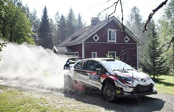 tanak leads in finland as neuville ogier fail to get grip