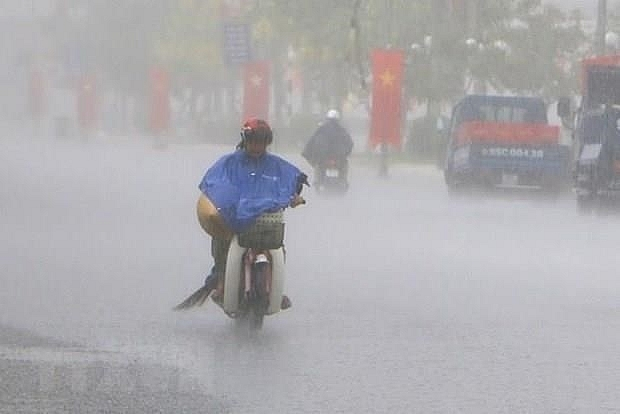 typhoon mun makes landfall in northern mainland