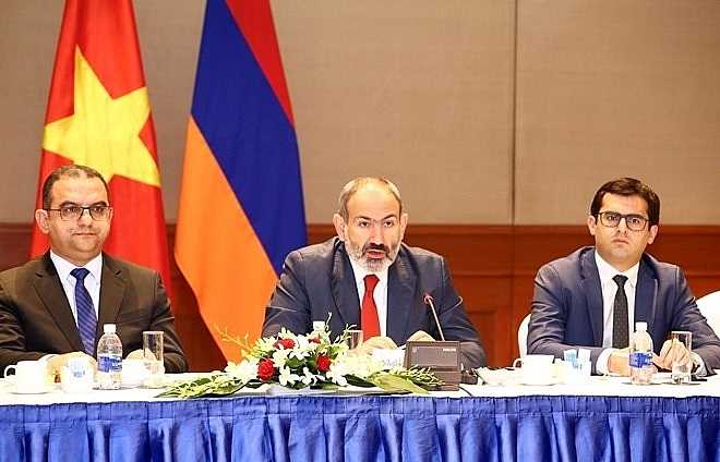 armenian pm seeks to boost trade investment ties with vietnam