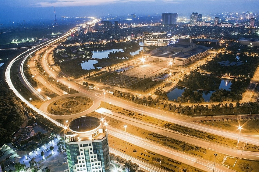 modern hanoi sky view