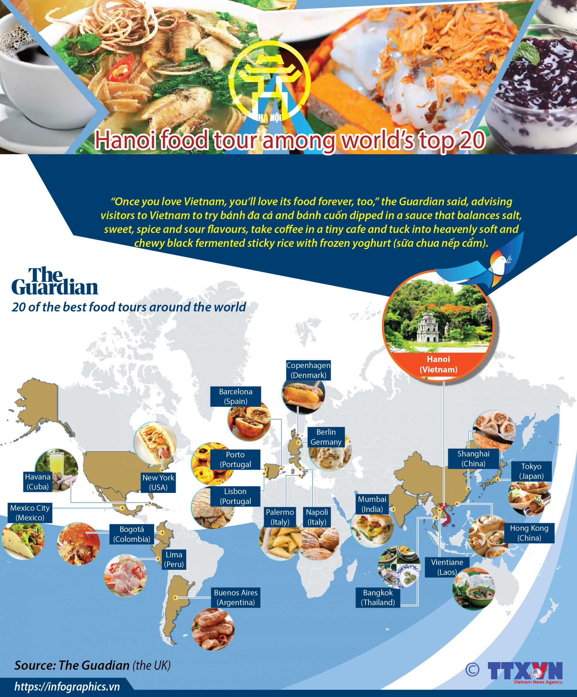 hanoi food tour among worlds top 20