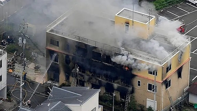 at least 33 dead in suspected arson at japan animation studio kyoani