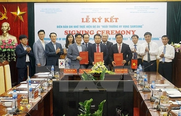 samsung hope school project to run in bac giang