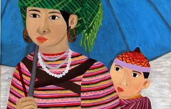 painting by vietnamese hearing impaired artist on display in italy