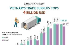 vietnams trade surplus tops 4 billion usd infographics