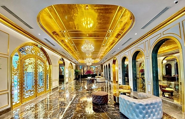 vietnams first gold plated hotel opens in hanoi