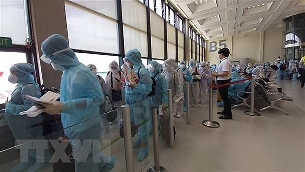 over 240 vietnamese citizens arrive home from taiwan china