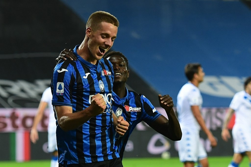 pasalic hat trick helps atalanta go second in serie a