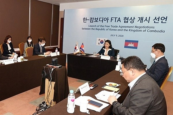 cambodia rok launch first round of fta negotiations