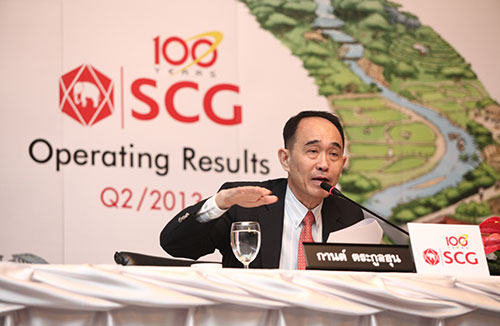 scg reports operating results for first half of the year