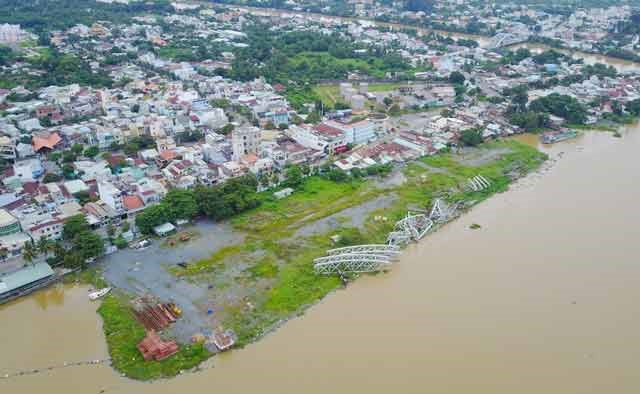 controversial infilling project on dong nai river continues to be on hold
