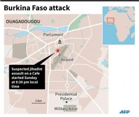 18 dead in 'terrorist attack' on Burkina Faso restaurant