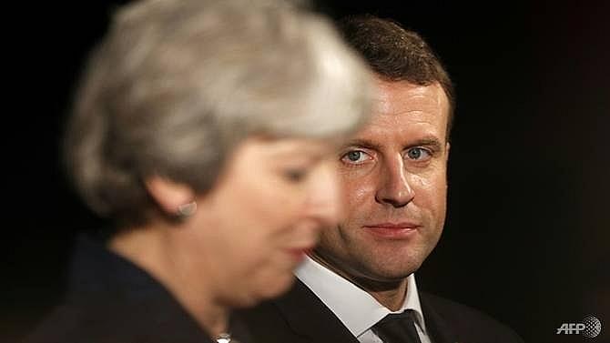 brexit on menu at may macron dinner