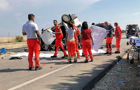 16 foreign farm workers killed in two crashes in italy