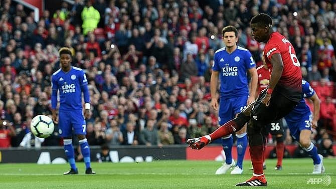 pogba leads manchester united to winning premier league start