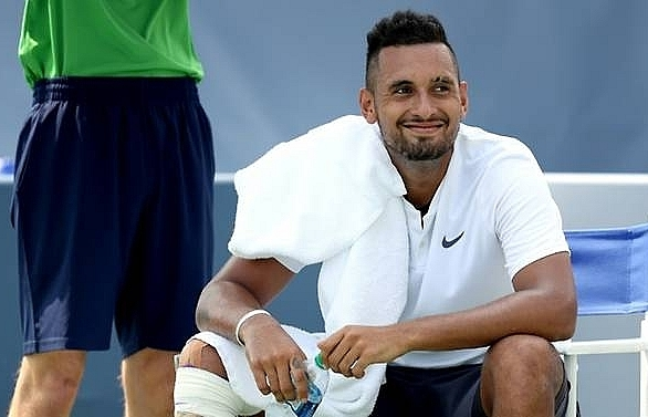 kyrgios saves match point to beat kudla in cincinnati