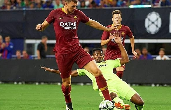 inter milan shocked in serie a opener dzeko hits roma stunner