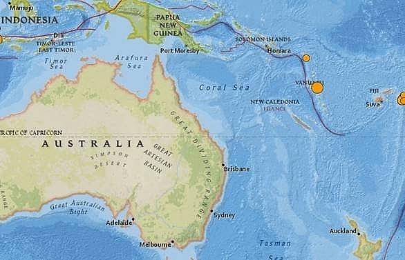 67 magnitude earthquake hits vanuatu