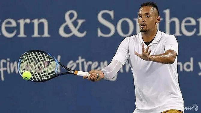 kyrgios fined us 113000 for cincinnati meltdown faces suspension