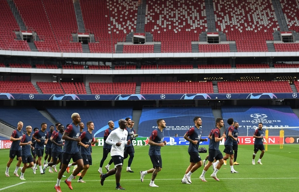 champions league final eight kicks off as psg and atalanta clash in lisbon
