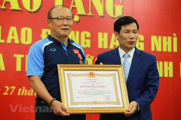 football coach park hang seo honoured with second class labour order