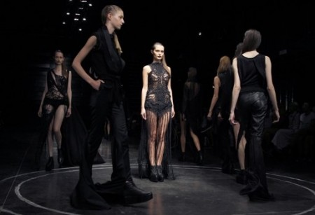 paris fashion week opens in black and white