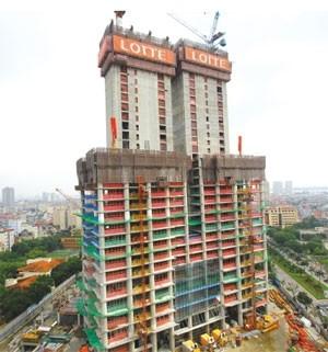 lotte hanoi reaches for the sky