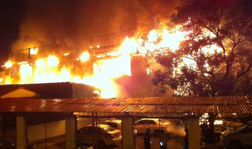 Fire rages for three hours at Hanoi bar, at least five injured
