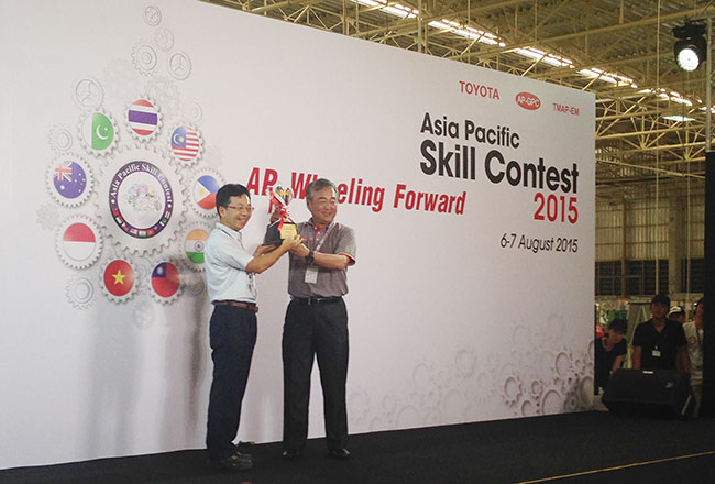 Toyota Motor Vietnam receives medals in Toyota Asia Pacific Skill Contest 2015
