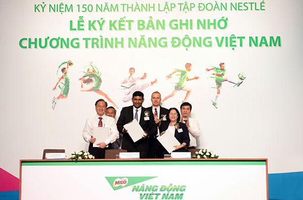 nestle vietnam announces partnership with government to nourish children