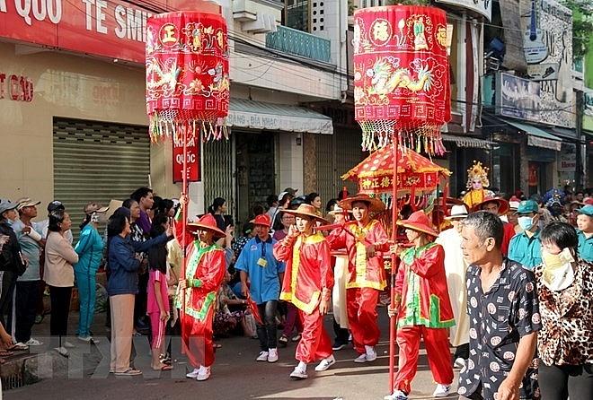 nghinh ong festival in full swing in binh thuan