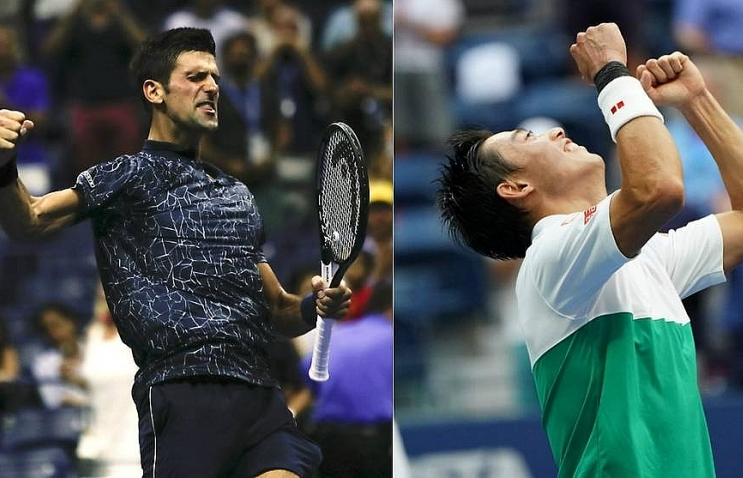 djokovic to face nishikori in 11th us open semi final