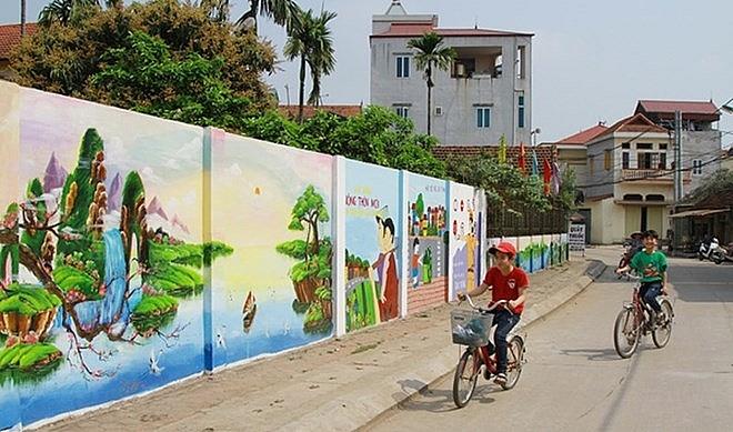 flower roads in hanois dan phuong district