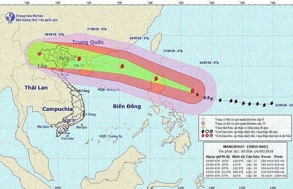 Super typhoon Mangkhut to hit Vietnam on Sept. 17