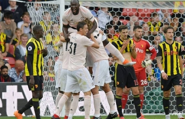 man united battle past watford to ease pressure on mourinho