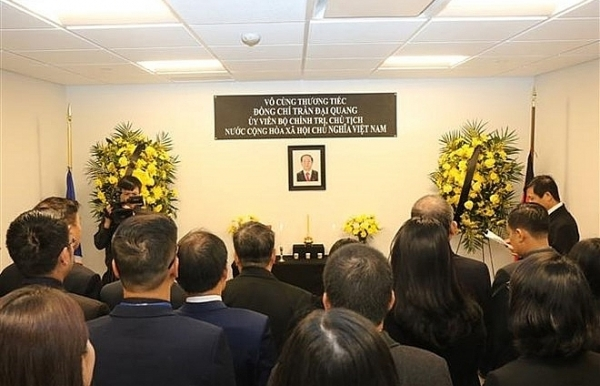 vietnams mission to un opens funeral book for president tran dai quang